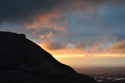 Sunset over Arkle