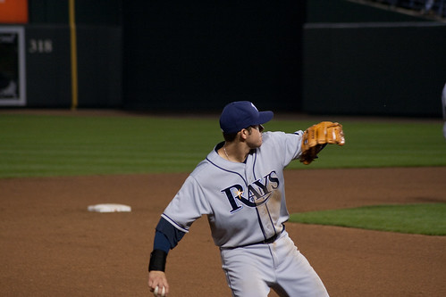 Evan Longoria throwing someone out