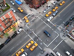 13th and 3rd (sgoralnick) Tags: street newyork cars timelapse video traffic manhattan aerial taxis pedestrians intersection lookingdown cabs 3rdavenue g9 canong9