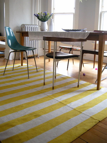 stripey dining room