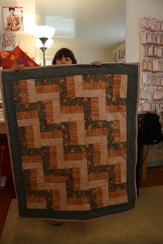 Big sis' first quilt