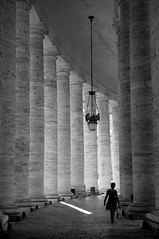A blade of light (rosita_65it) Tags: roma vaticano sanpietro bernini lazio colonnato fotoleggendo2010romamor