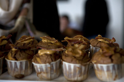 Chocolate Peanut Butter Bacon Cupcake