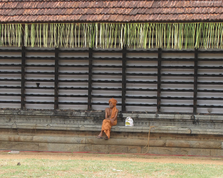 thrissur pooram - Lonely monk
