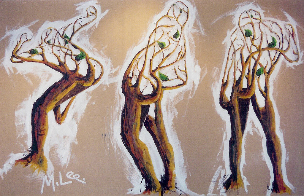 Three in One, Acrylic on corrugated board, 120 x 180cm, 2001