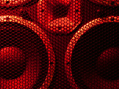 speaker1compressed (Joflake) Tags: red cone cage grill speaker redshift