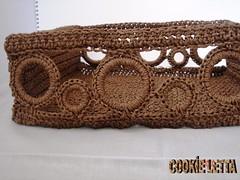 Handmade basket Brown yarn with rounds opening by cookieletta (cookieletta) Tags: brown set bathroom bedroom basket handmade organizer etsy crocheted isot dawanda cookieletta
