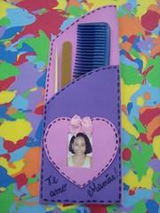 Lembrança do Dia das Mães na escola (vaca festeira) Tags: lembrança eva retrato coração pente mãe lixa
