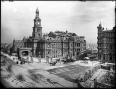 Sydney Town Hall with St Andrews cathedral visible