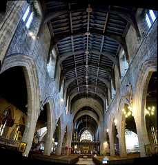 St Nicholas Cathedral Newcastle - 130/365 (Paul J White) Tags: santa urban panorama gabriel parish bells photoshop newcastle nikon stitch pano norman multipleexposure 365 toon queenvictoria anglican patronsaint evensong d300 diocese clerestory project365 cathedralchurchofstnicholas sailorsandboats