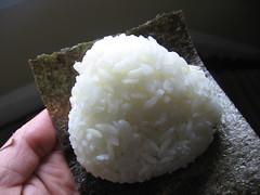 spicy salmon onigiri, exterior