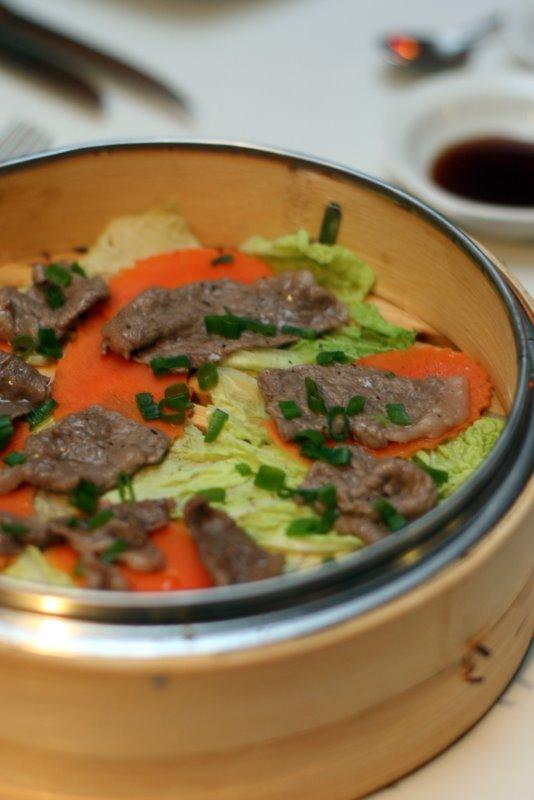 Steamed Grade 9 Wagyu with Ponzu Sauce
