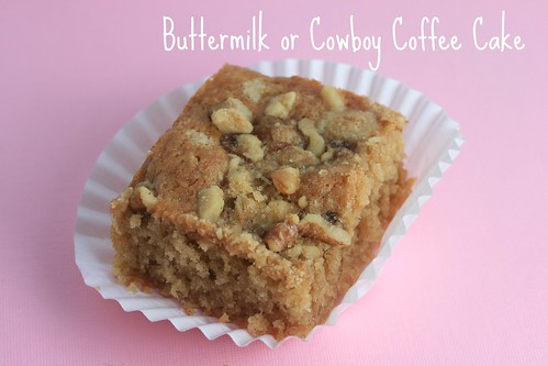 Food Librarian - Buttermilk or Cowboy Coffee Cake