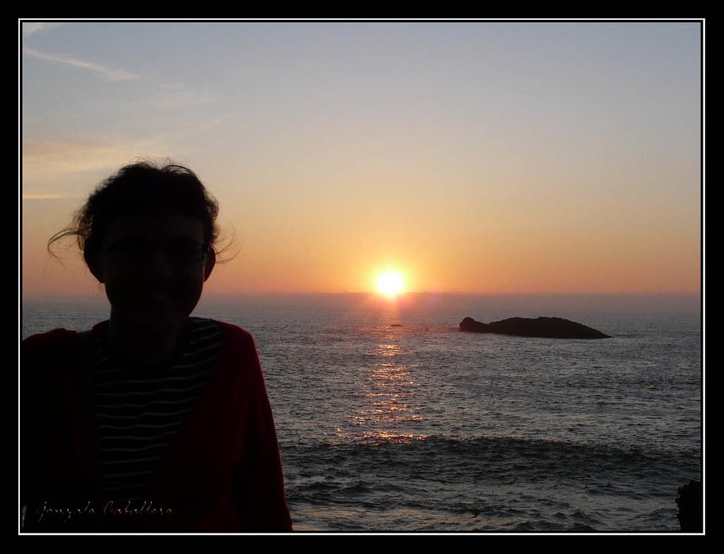 Atardecer desde Biarritz