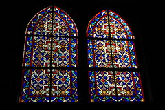 Stained glass windows, Inglesia Santa Barbara ...