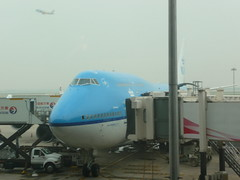 KLM plane from Shanghai to Amsterdam