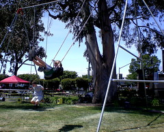 Giant Swing (Kati Giblin) Tags: diy fair swingset sanmateo makemagazine craftmagazine makerfaire2009