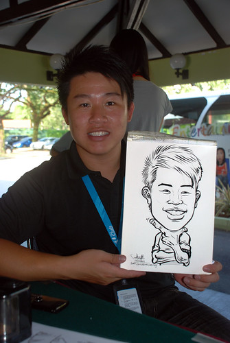 Caricature live sketching for Costa Sands Resort Day 2 - 3