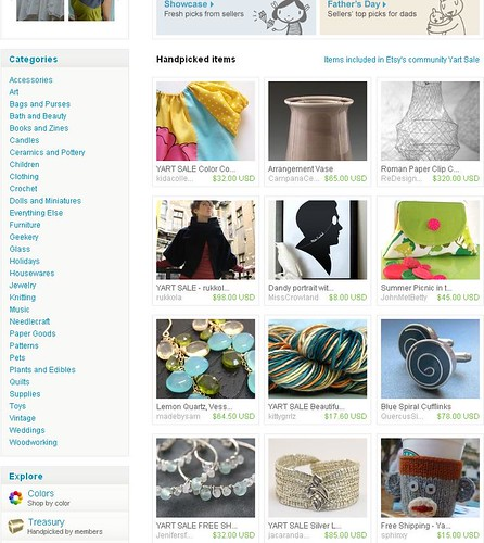 My first Etsy Front Page