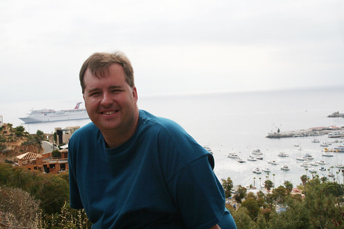 Catalina - Mike Overlooking Avalon Bay