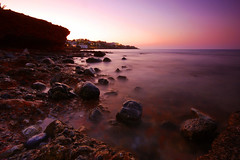 Stalis Bay - Dusk (JC.Photography) Tags: ocean sunset sea slr water digital canon island greek eos james bay coast rocks dusk stones swindon sigma wideangle greece crete 10mm stalis 40d clifforde 20090618