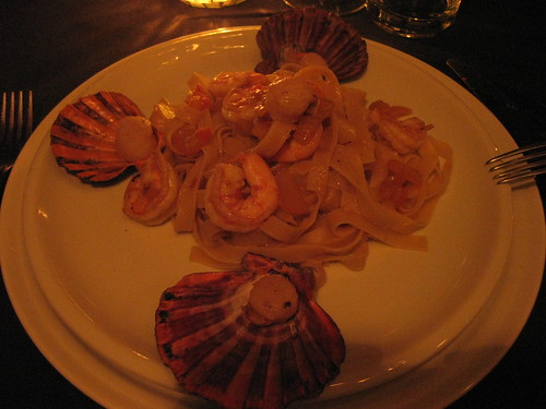 pasta and scallops