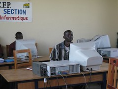 IT class at Bujumbura Training Centre