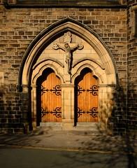 Church Door (langleyo) Tags: door church catholic roman holy rood barnsley langleyoblog