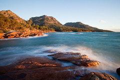 Coles Bay Tasmania Australia (john white photos) Tags: ocean sunset sea rocks waves australia tasmania lichen freycinet colesbay worldwidelandscapes johnwhitegettyimages
