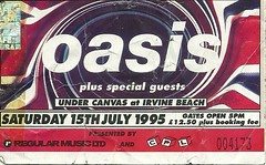 Oasis Irvine 1994 (tcbuzz) Tags: tickets james scotland football edinburgh morrissey glasgow ticket oasis concerts loch lomond