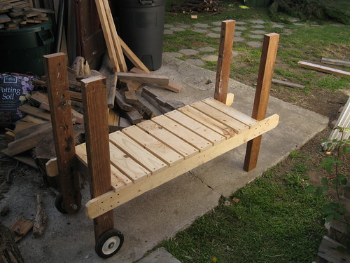 rolling cart for scrap wood