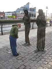 The Famine Sculpture & Max