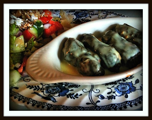 Dolmathes and Greek Salad