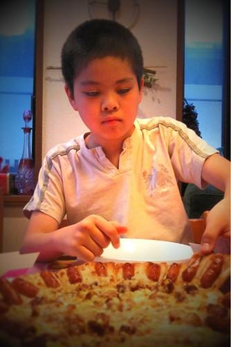 今日は息子とPizzaHut。月一は食べているのに、毎回クーポン付きチラシがどっ...