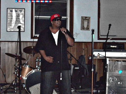 Kese Soprano on the mic at Tony Green's bday bash