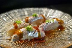 Aji (CookieDuster) Tags: food fish sushi japanese aji venturablvd redgingersushithai