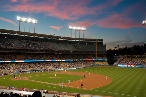 Twilight at Dodger Stadium by LifeSupercharger, on Flickr