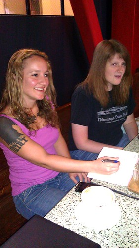 Katharine and Sandy at PyLadies meetup