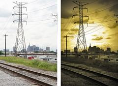 East of Downtown - Before & After (crashmattb) Tags: photomanipulation plugin beforeafter canonef50mm18ii canoneosdigitalrebelxti photoshopcs3 adobephotoshopcs3 redynamix dcetools medichance