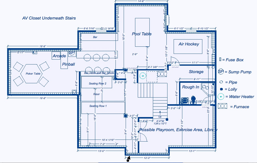The Girl-Cave Home Theater/Game Room Layouts
