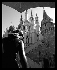 Disney - Wonderful World Of Color - In Black & White - Cinderella and Her Castle (Explored) (Express Monorail) Tags: travel walter vacation blackandwhite bw sculpture usa statue bronze america wonder geotagged fun psp interestingness orlando nikon florida availablelight magic dream wed elias disney mickey disneyworld fantasy mickeymouse imagine theme cinderella grayscale wish orangecounty wdw waltdisneyworld walt magical kissimmee themepark magickingdom fantasyland waltdisney filmgrain d300 wdi lakebuenavista imagineering cinderellacastle baylake flickrexplore waltdisne