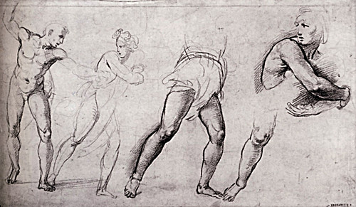 1510  Raphael    Study for the Massacre of the Innocents  Red Chalk  23,5x41 cm  Vienne, Albertina