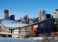 saddledome (ktelqueen) Tags: city winter calgary architecture saddledome cityscape olympus alberta calgarytower pengrowthsaddledome top20flickrskylines ktelqueen mariapowellphotography
