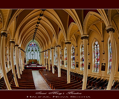 St. Mary's Basilica (Dave the Haligonian) Tags: canada me church architecture lens catholic novascotia cross god basilica jesus gothic arches stainedglass christian fisheye tokina filter maybe saintmarys halifax notreally agnostic stmarysbasilica exposureblending thelord 1017mm nothdr img1536cr2psd