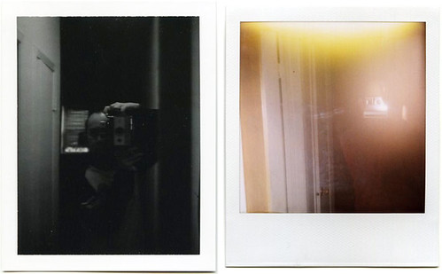 Two polaroids action