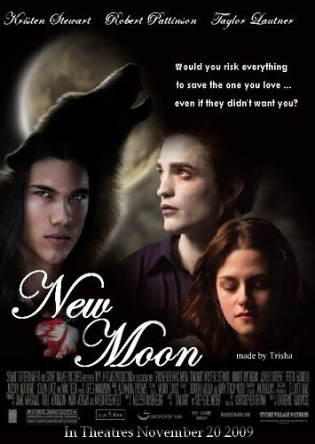 New Moon movie poster (fanmade) by twilight-saga-fan-trish.