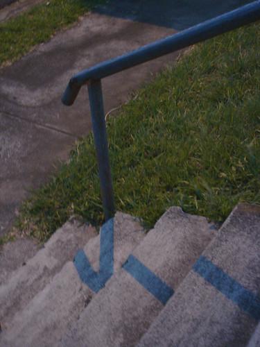 Sombras azul-verdosas en la penumbra