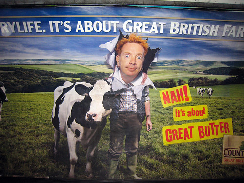 Johnny Rotten hawks butter