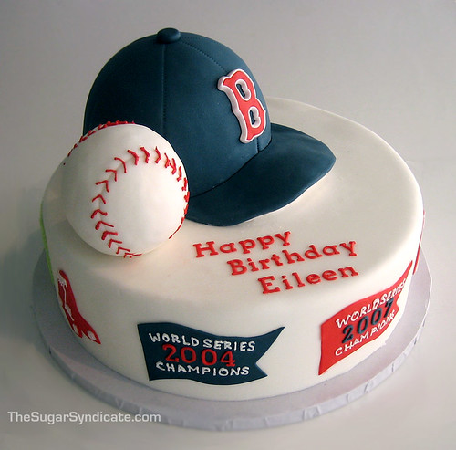 Boston Red Sox Birthday Cake