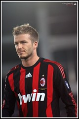 david beckham of AC Milan - by erickespinosa